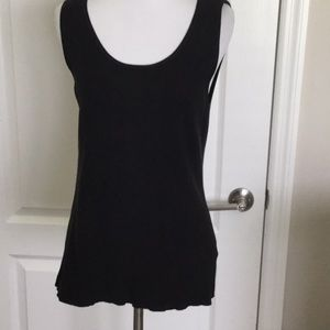 Misses/ladies black knit sleeveless top